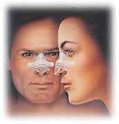 applicazione della placchetta rigida sul dorso del naso