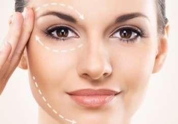 volto femminile con disegni preoperatori